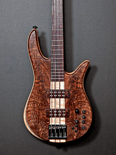 Claro walnut electric bass guitar