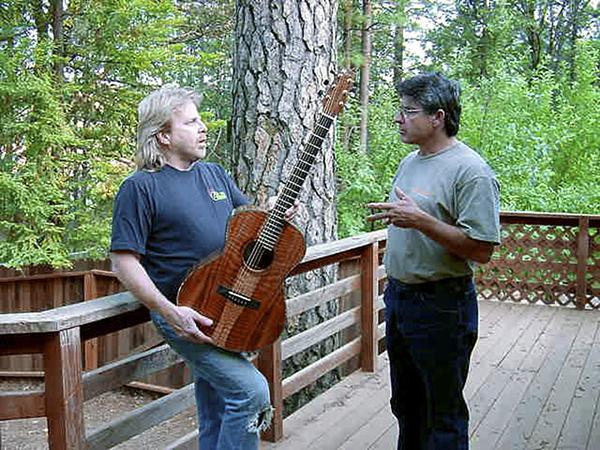 lance mccollom claro walnut guitar